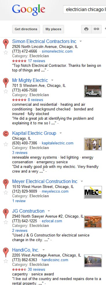 Rankings on Google+ Local: Some Observations