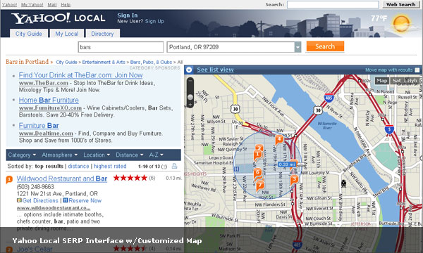 Yahoo Leads the Way in Local Search Functionality